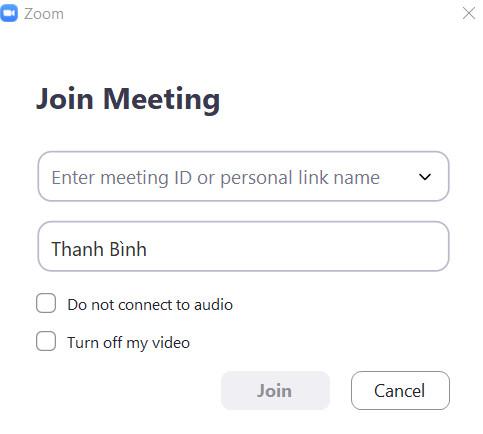 học online qua ứng dụng zoom