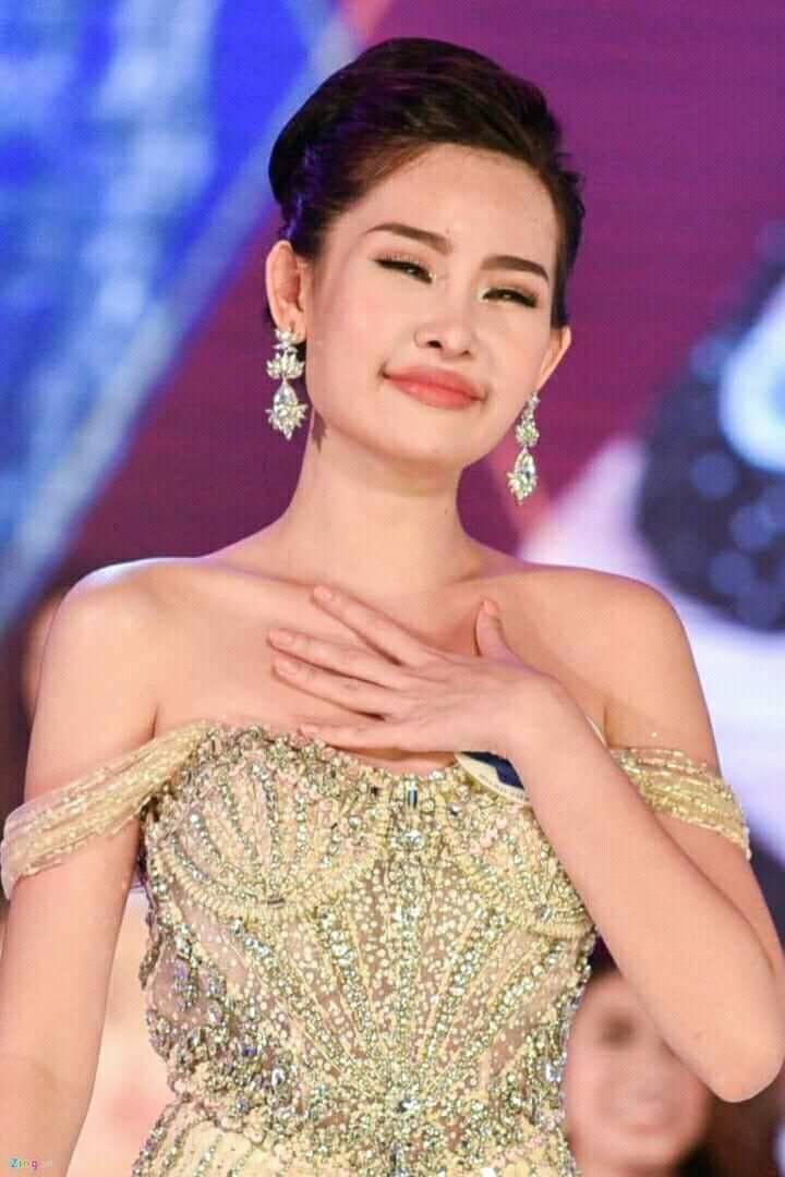 Hoa hậu Lê Âu Ngân Anh đêm chung kết