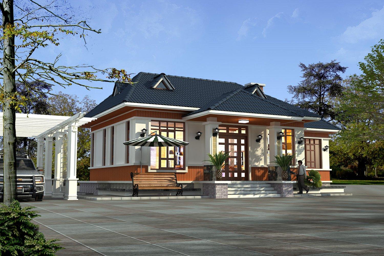 Nhà vườn 1 tầng mái thái