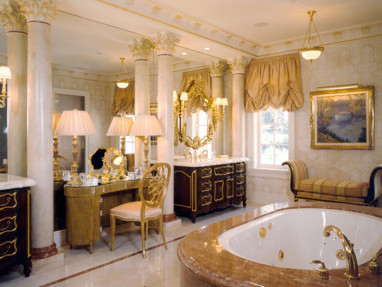 Thiết kế nội thất phòng tắm cổ điển