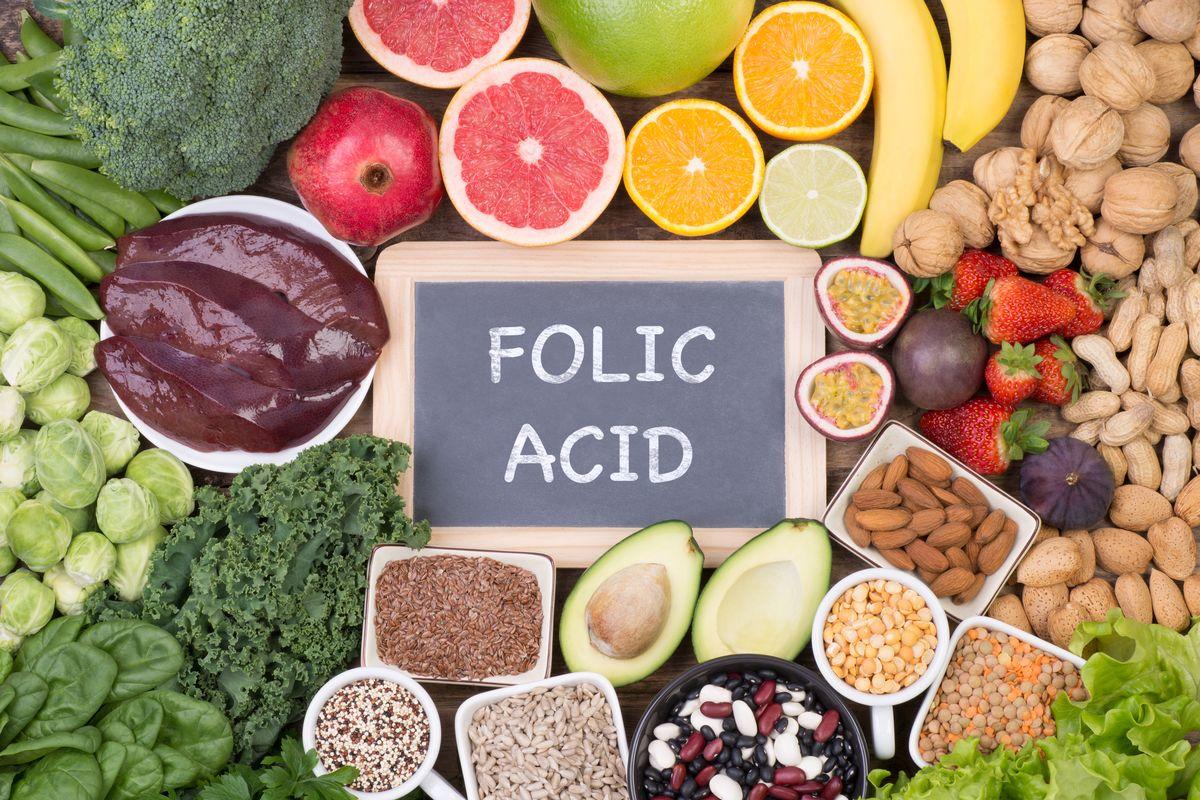 Thực phẩm dinh dưỡng giầu Axit folic
