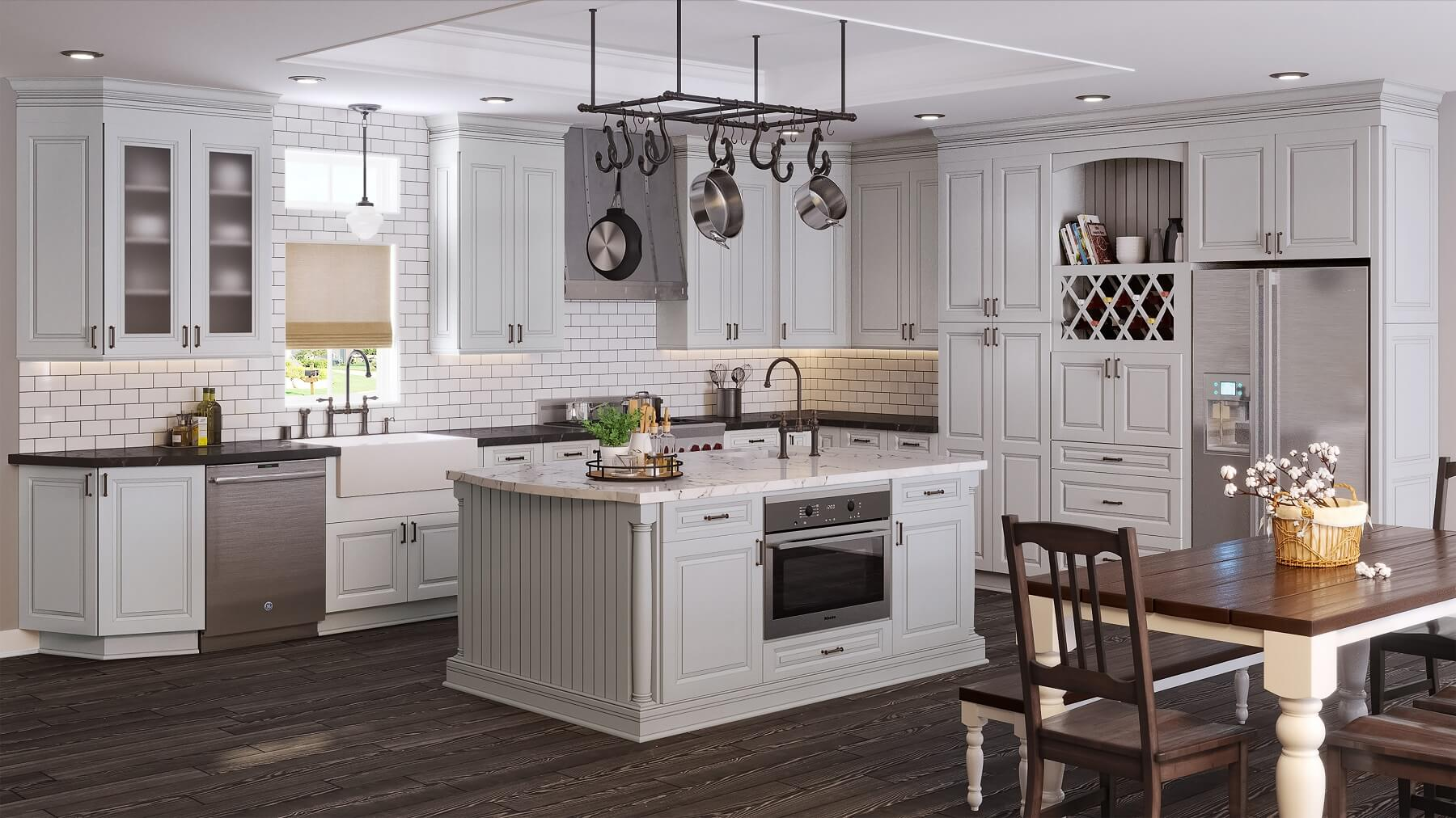 Thiết kế nội thất phòng bếp cổ điển