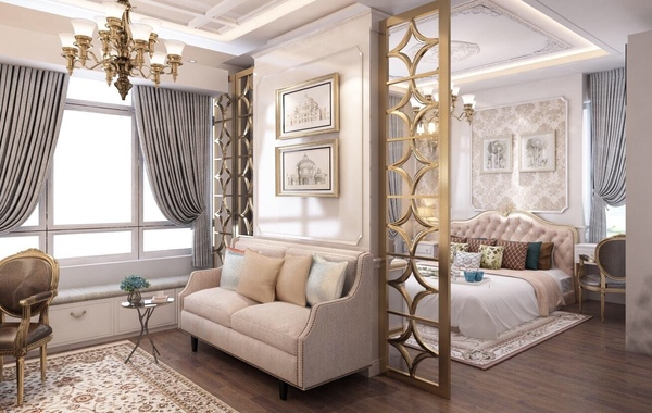 Đường nét trong thiết kế nội thất tân cổ điển
