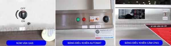 Bảng điều khiển trên tủ nấu cơm công nghiệp bằng gas điện