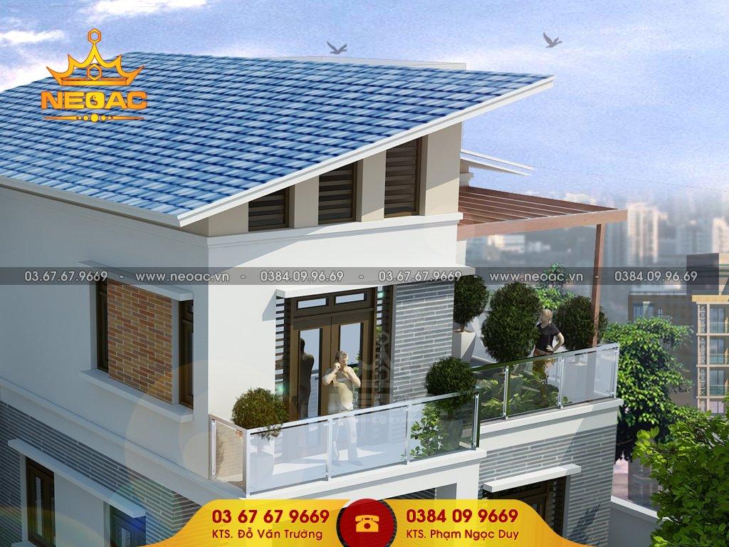 Thiết kế biệt thự mái dốc hiện đại nhất 2021
