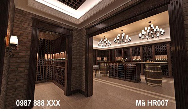 hiết kế nội thất hầm rượu phong cách hiện đại