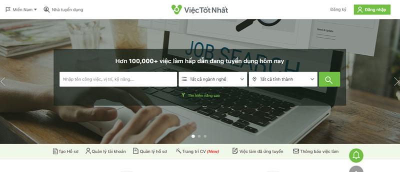 Danh sách website tuyển dụng hàng đầu Việt Nam