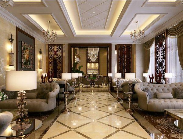 Đường nét trong thiết kế nội thất cổ điển theo phong cách châu Âu