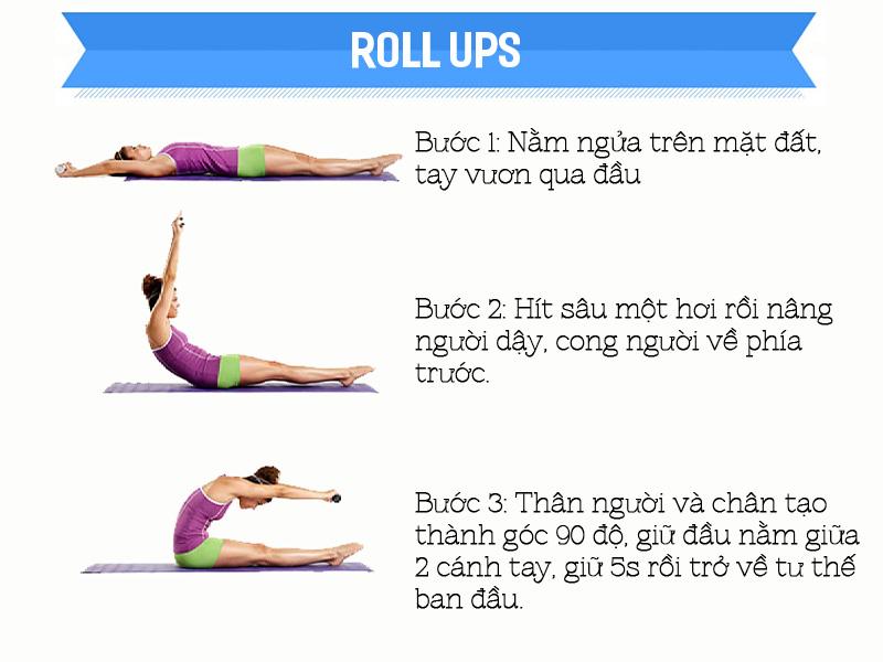 Bài tập Roll Ups tập luyện cho người chuẩn bị mang thai