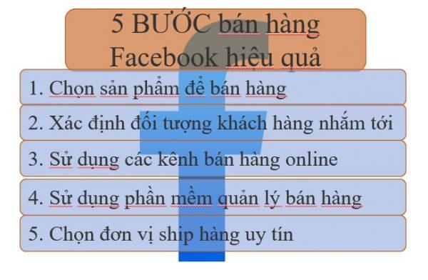 Bước bán hàng facebook