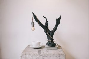 đèn cây phong cách nội thất tối giản (minimalism)