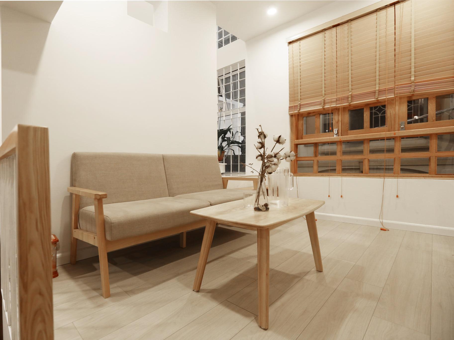 phòng khách phong cách nội thất tối giản (minimalism)