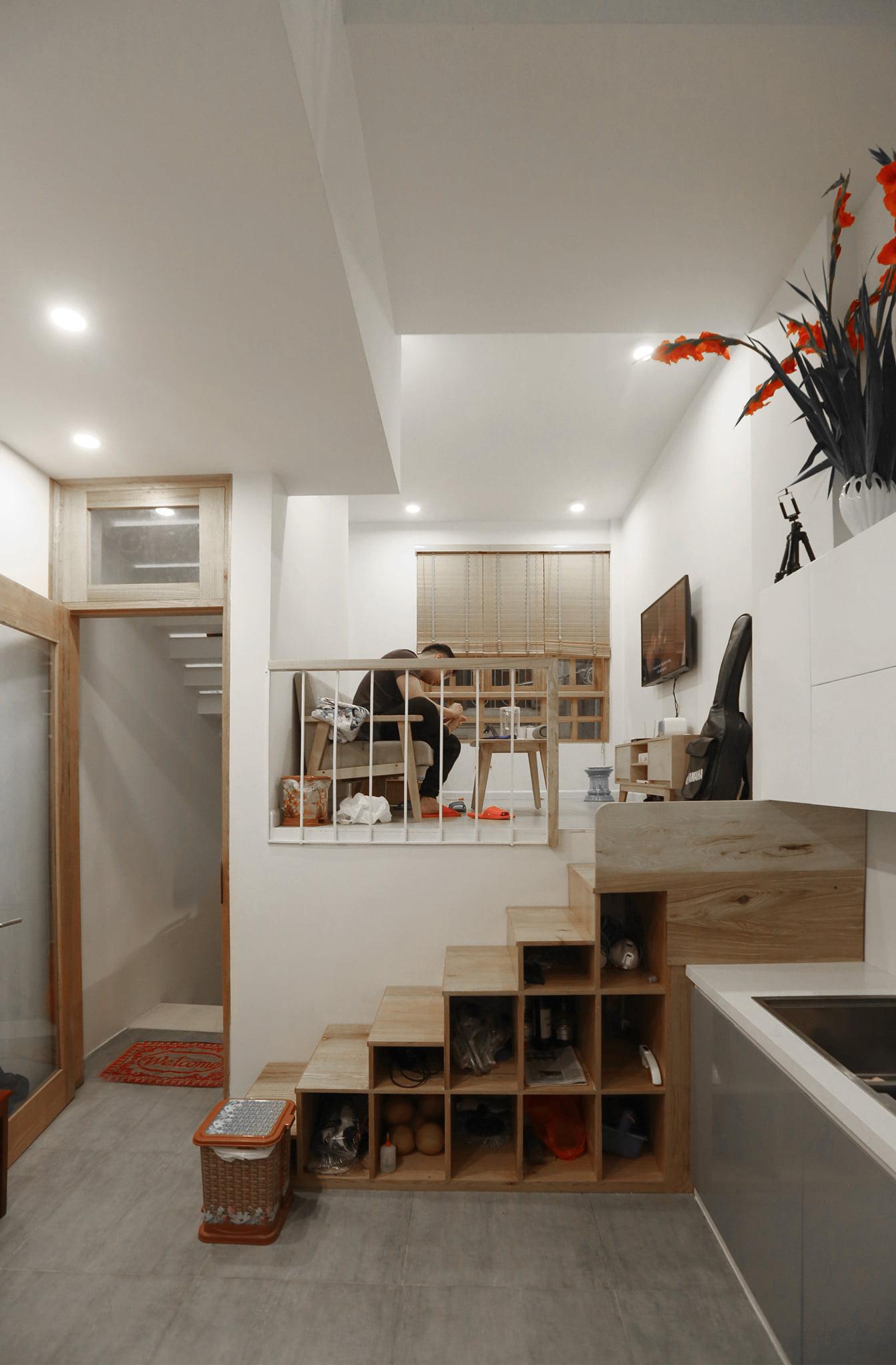 cầu thang trong phong cách nội thất tối giản (minimalism)