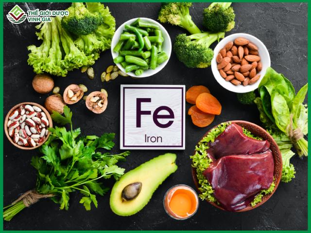chế độ dinh dưỡng cần đảm boả bổ sung sắt một cách hợp lý và đầy đủ đảm bảo cho thai kỳ khoẻ mạnh