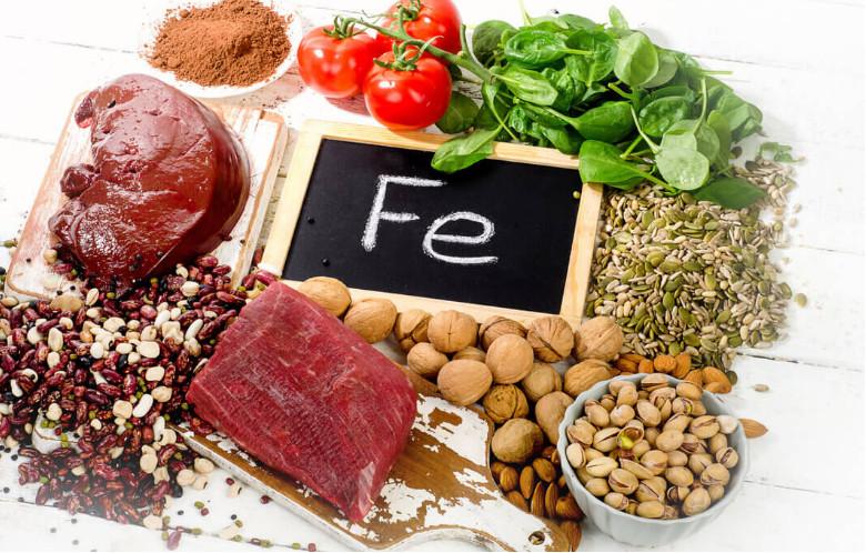 Thực phẩm dinh dưỡng giầu chất sắt