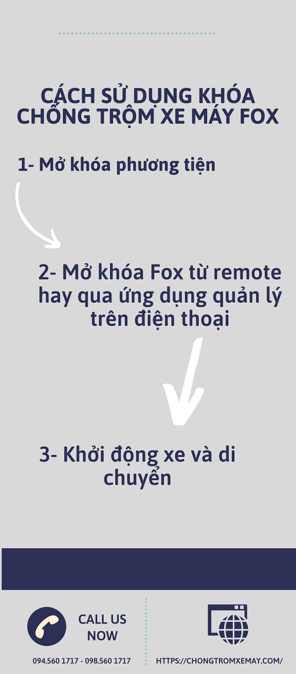 Sử dụng khóa chống trộm xe máy Fox