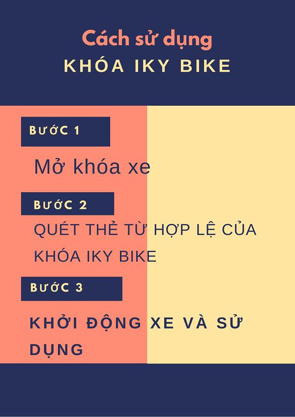 Tính đơn giản tiện dụng của khóa Iky bike
