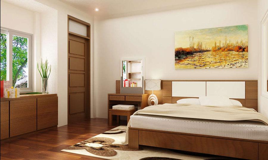 Giường phòng ngủ nên cách xa cửa ra vào phòng ngủ