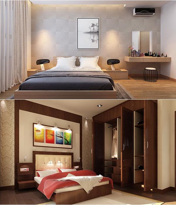 Mầu sắc ánh sáng thiết kế phòng ngủ