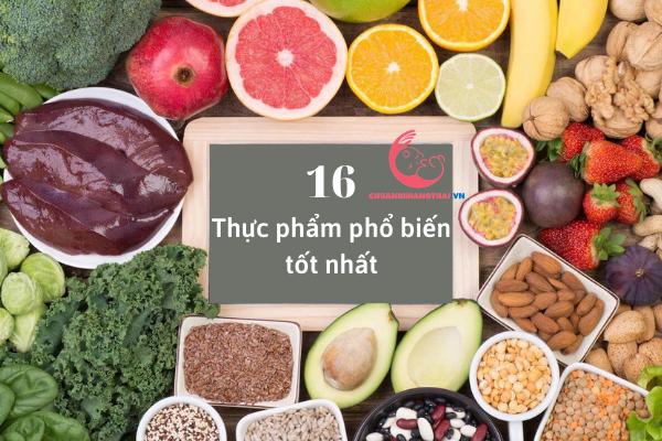16 Thực phẩm tốt cho quá trình thụ thai