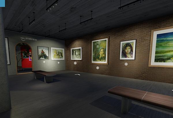 không gian triển lãm tranh