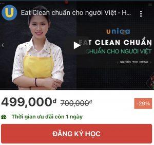 khóa học eat clean unica