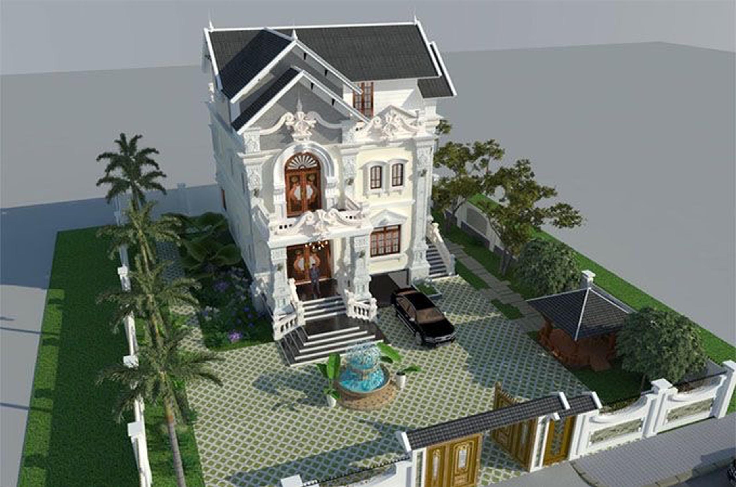 Mẫu thiết kế biệt thự phố 3 tầng