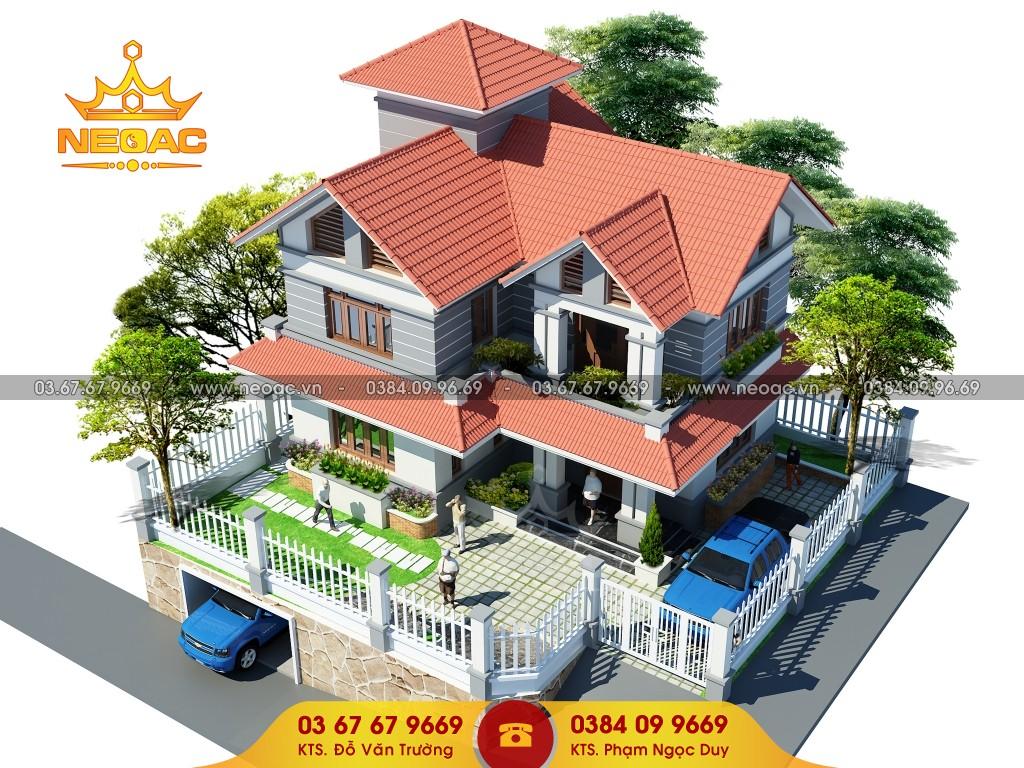 thiết kế biệt thự mái Thái