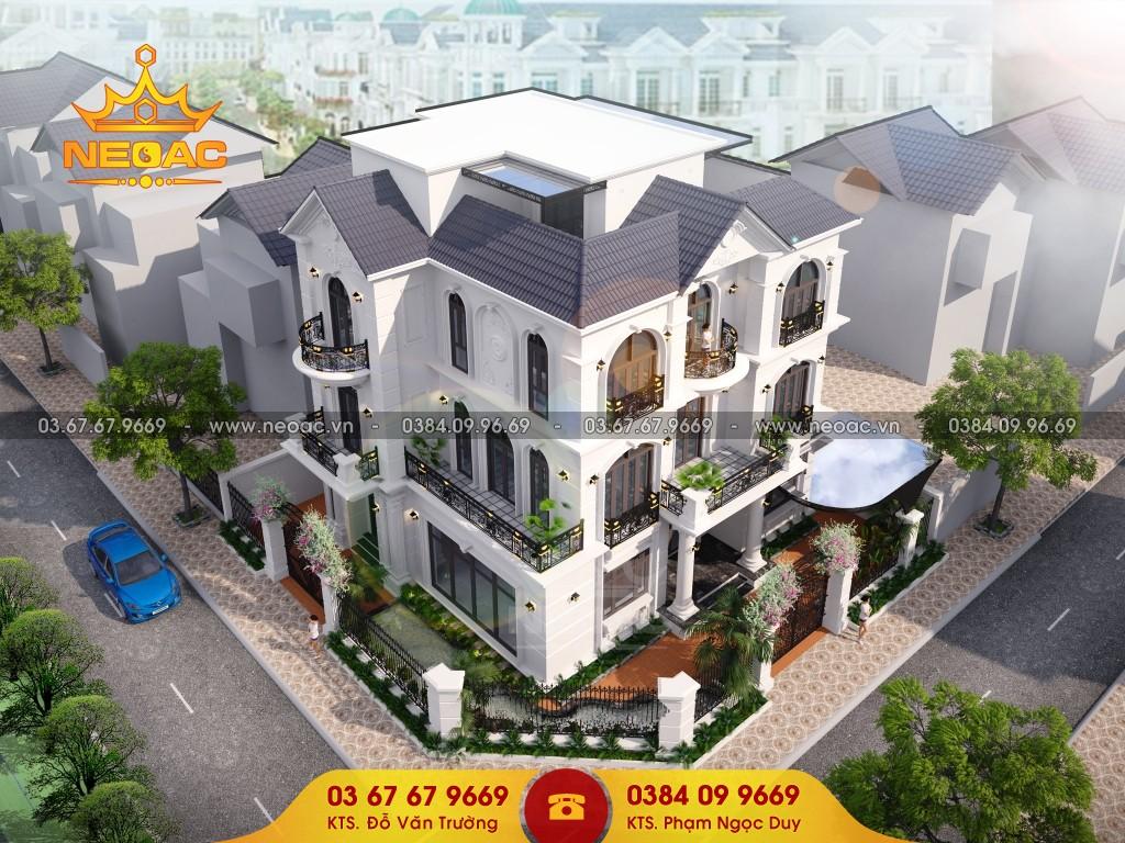 Thiết kế mẫu nhà biệt thự 3 tầng 140m2