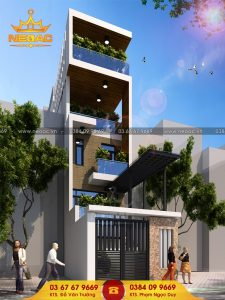 Kiến trúc nhà phố 4 tầng