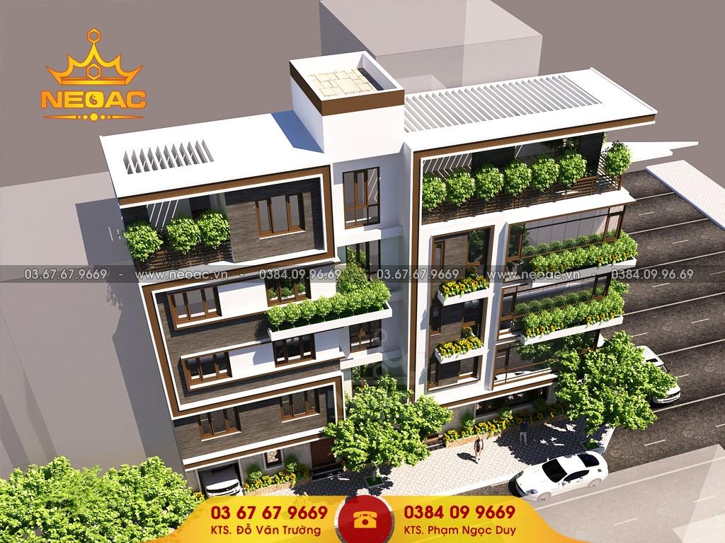 Kiến trúc nhà phố 5 tầng