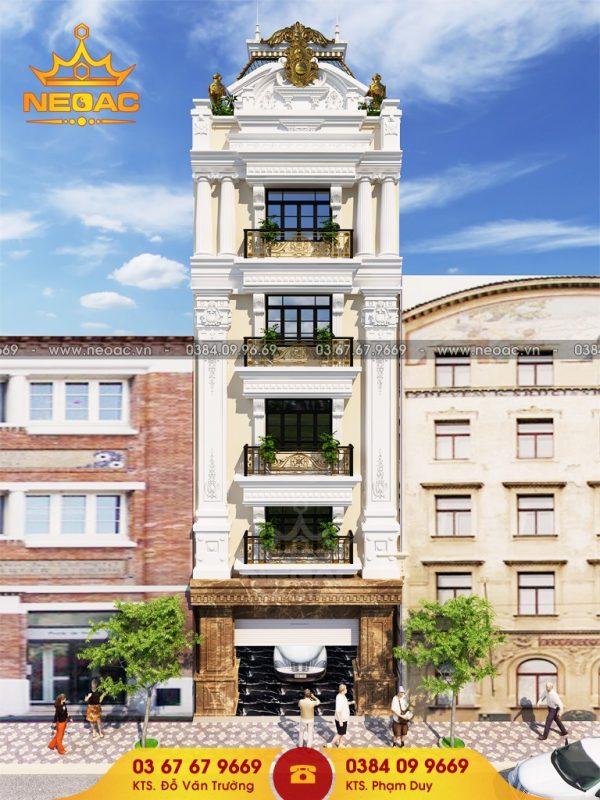 Kiến trúc nhà phố 6 tầng