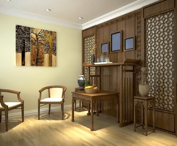 Phong cách thiết kế nội thất phòng thờ