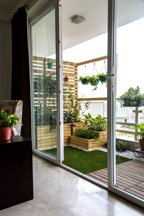 Kết hợp cây xanh trong trang trí nội thất