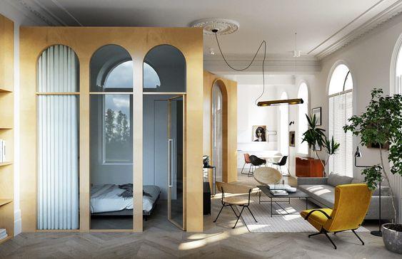 Kết hợp vách kính cho căn hộ chung cư với chi phí 300 triệu