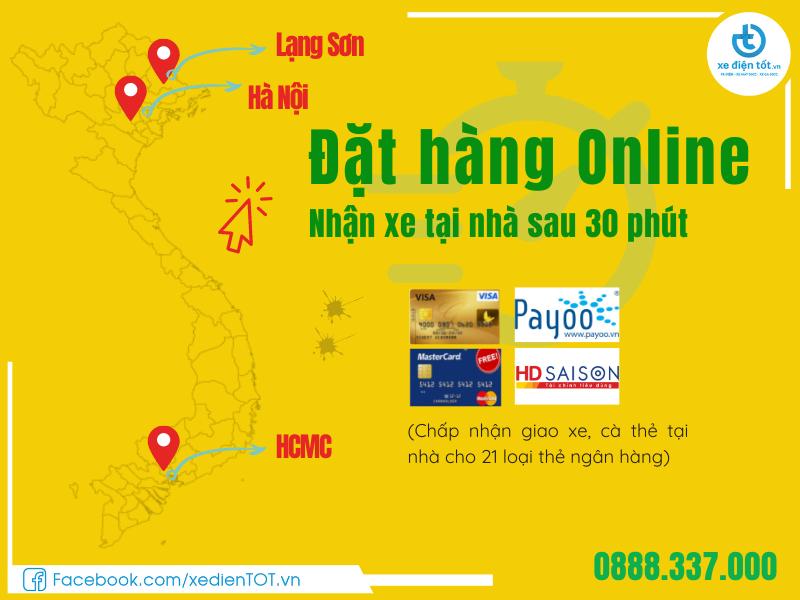 Đặt hàng online nhận xe tại nhà sau 30 phút