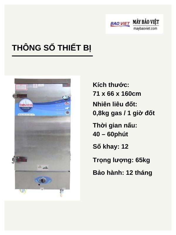 tủ nấu cơm công nghiệp dùng gas