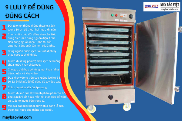 9 Lưu ý QUAN TRỌNG dùng tủ nấu cơm đúng cách