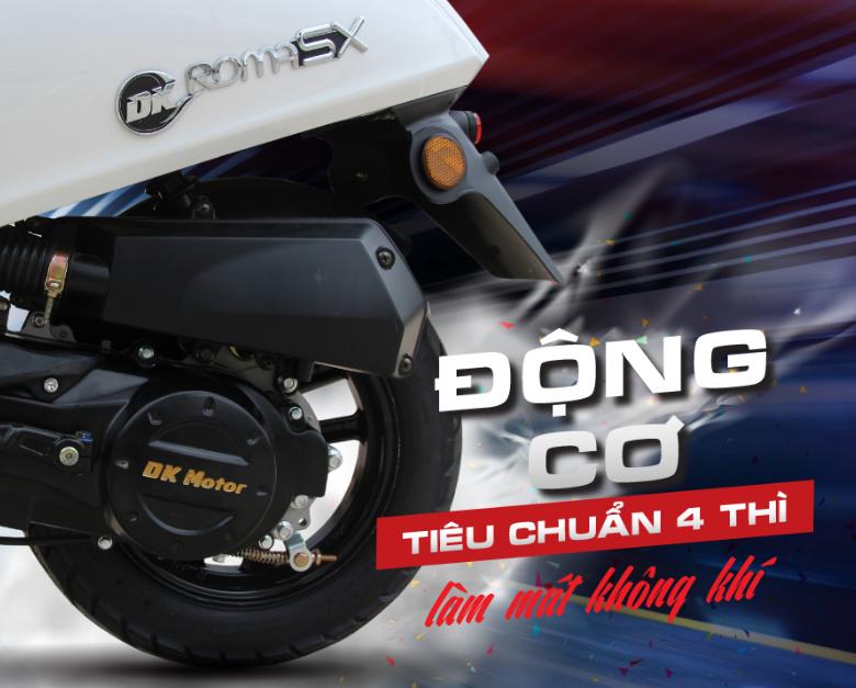 DK roma SX 50cc - Động cơ tiêu chuẩn 4 thì cao cấp