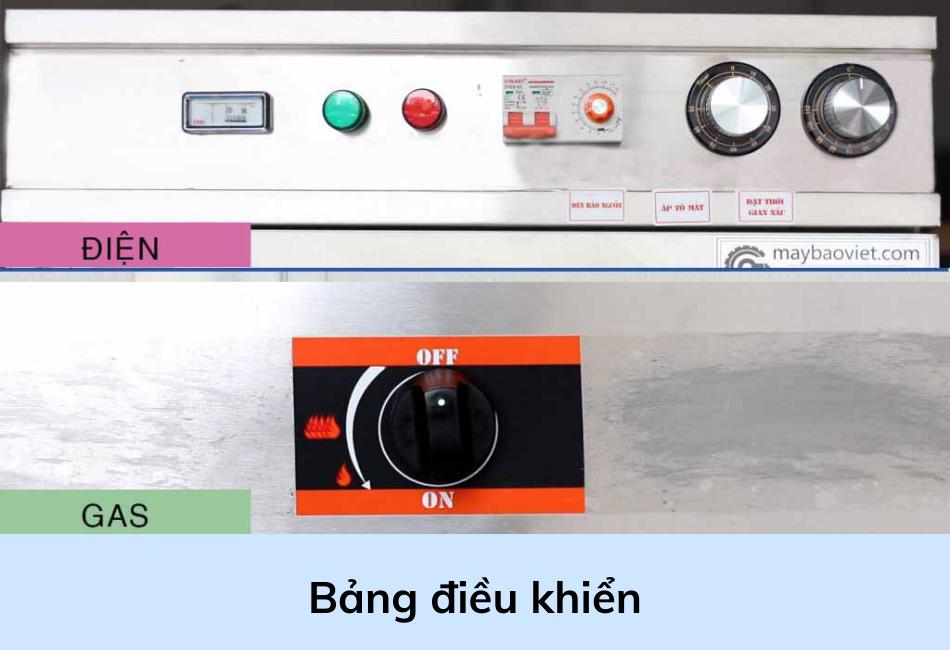 Bảng điều khiển tủ nấu cơm công nghiệp dùng gas điện