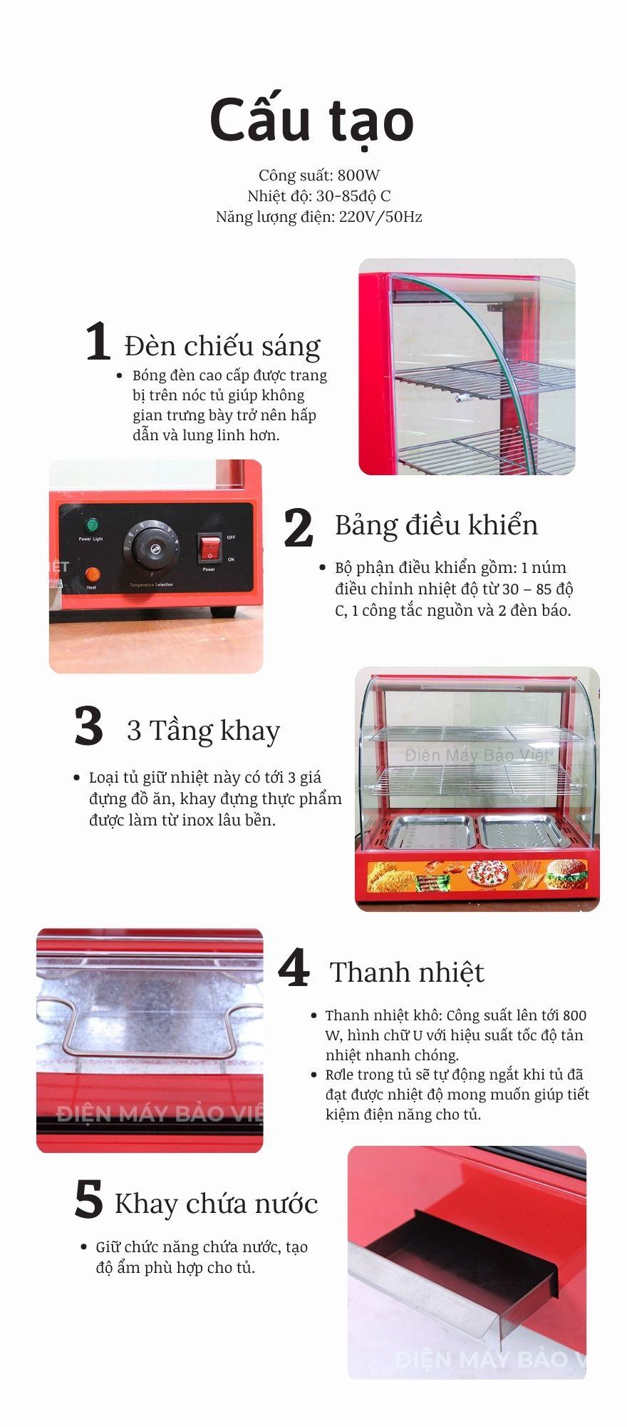 tủ giữ nóng
