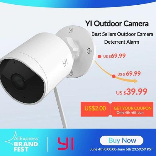 Các chi tiết trên Camera Xiaomi ngoài trời YI Outdoor Edition Full HD đều được làm từ nhựa