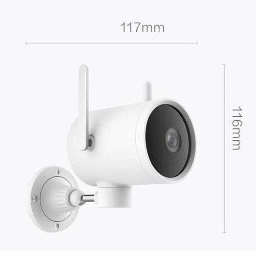 Camera Xiaomi ngoài trời Mi Outside Pro 1080P - EC2 ( phiên bản có pin) được thiết kế tối giản với màu trắng sang trọng, và kích thước nhỏ gọn