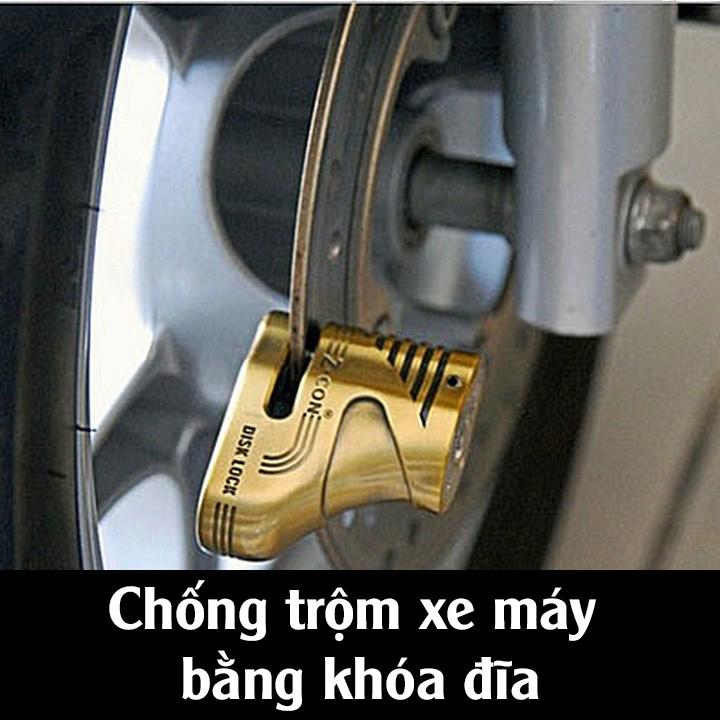 Chống trộm xe máy bằng khóa đĩa