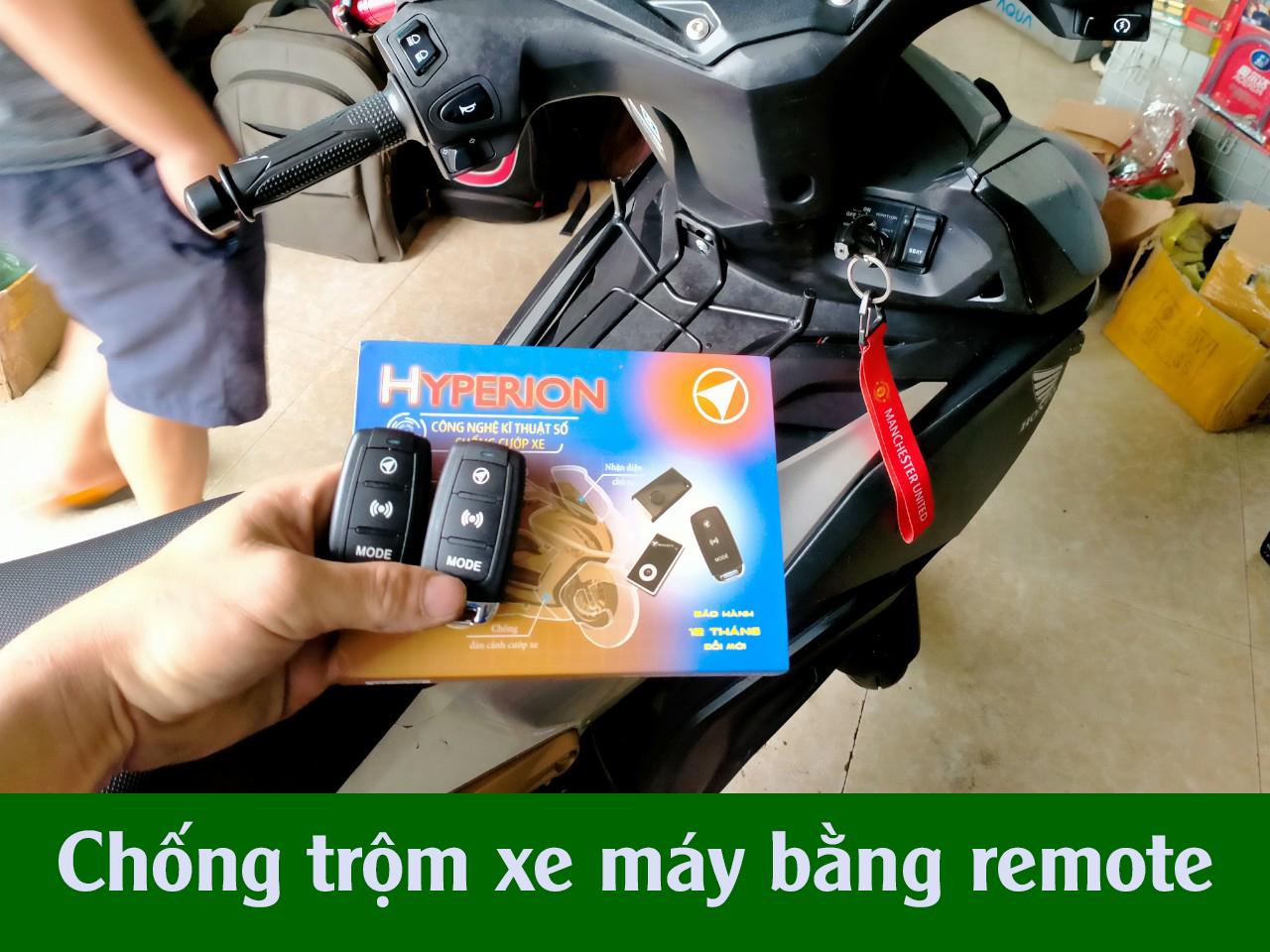 Chống trộm xe máy bằng remote - Chống trộm xe máy tại hà nội
