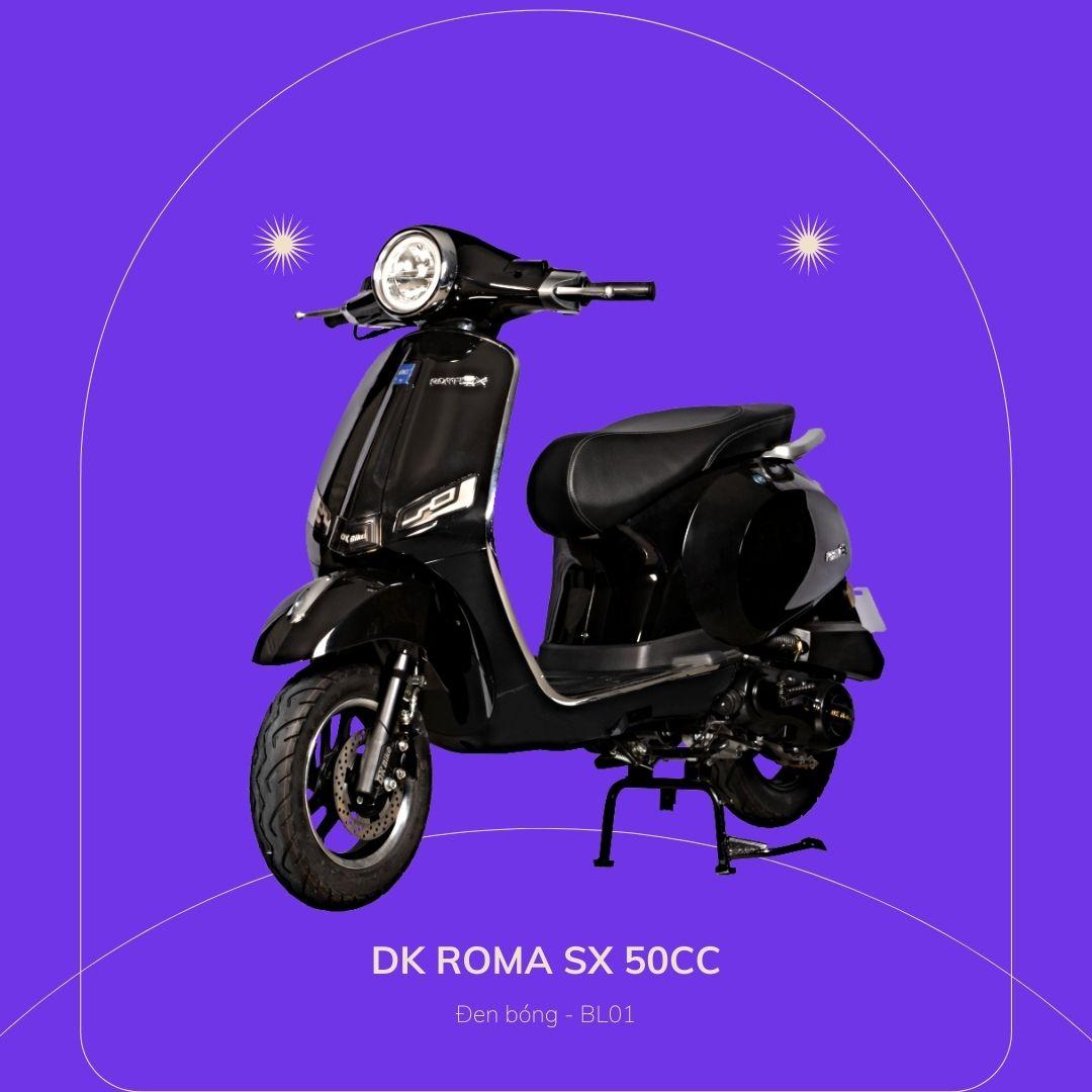 DK roma SX 50cc Đen bóng