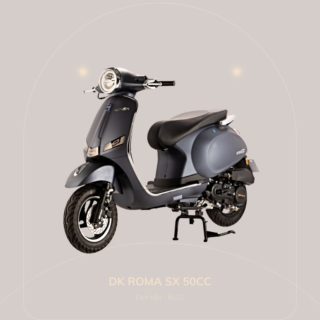 DK Roma SX 50cc Đen sần