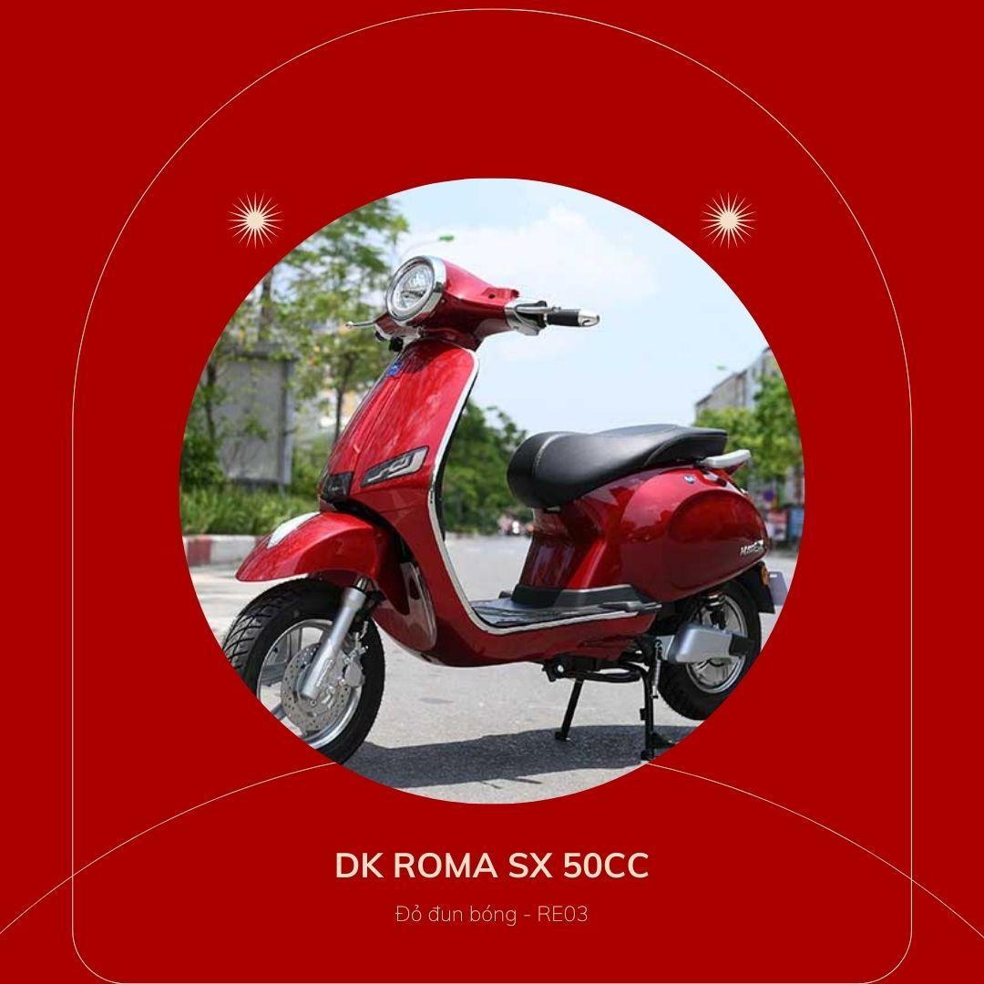 DK roma SX 50cc Đỏ đun bóng