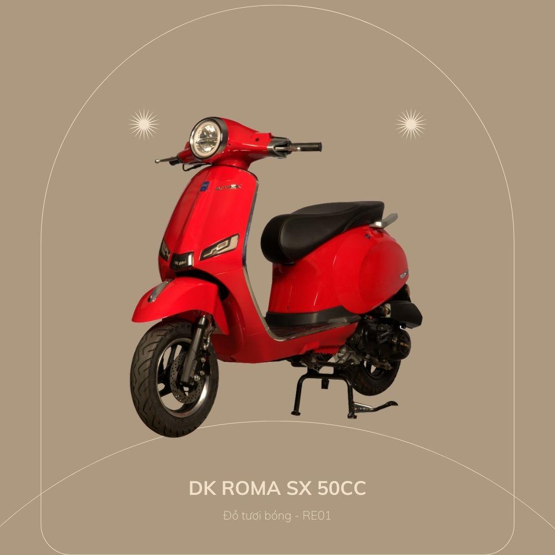 DK roma SX 50cc Đỏ tươi bóng