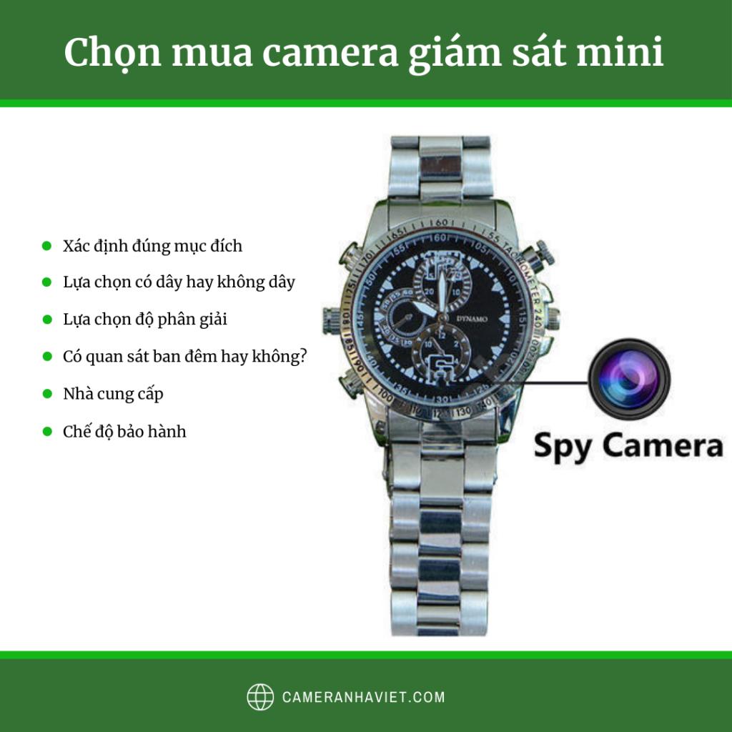 Chọn mua camera mini